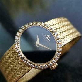 Ladies 18k Gold Baume & Mercier Geneve Diamond Watch