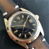 Mens Rolex OysteDate Precision 6494 35mm Gold-Capped