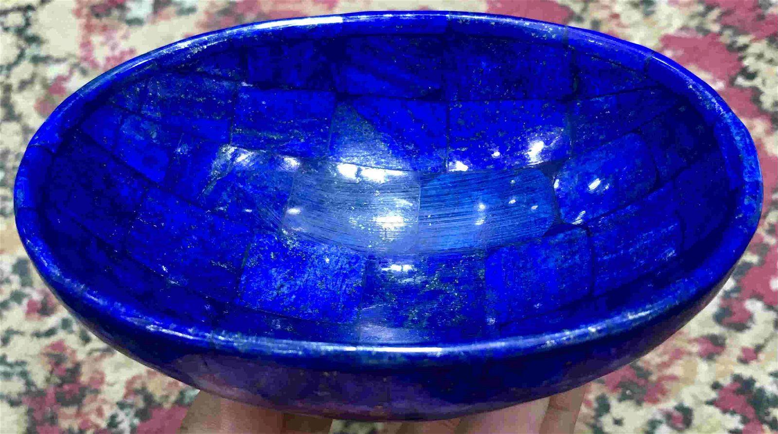 320 Grams Lapis Lazuli Bowl From Sar e Sang Afghanistan