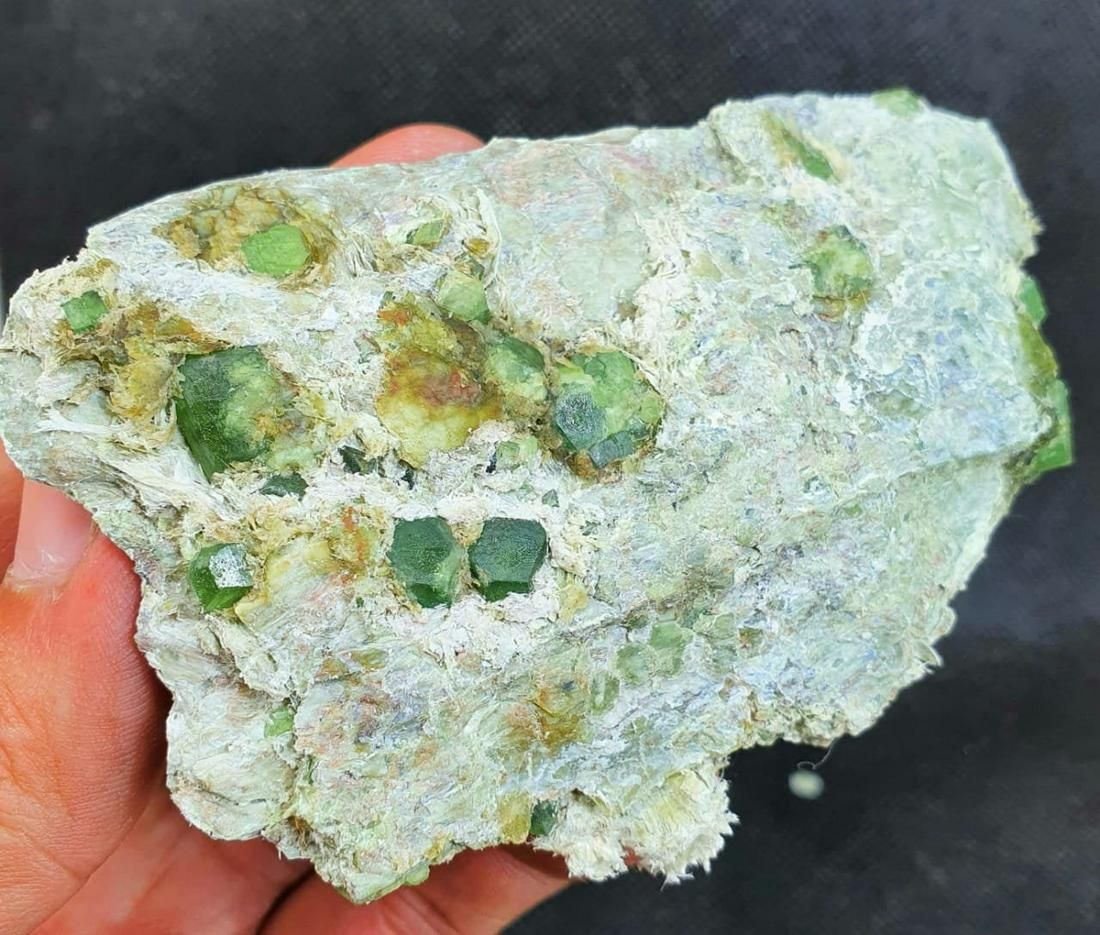 Garnet Crystal , Terminated And Undamaged Green Color