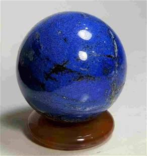 Amazing Lapis Lauzli Pyrite Sphere - 356 Grams