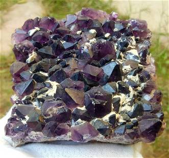 574.9 Grams Natural Amethyst Crystals Cluster