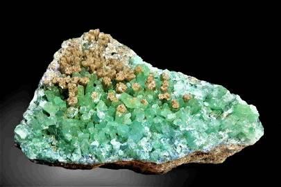 Rare Hemimorphite Crystals Cluster - 2077 Grams