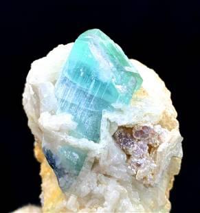 Tourmaline Crystal , Terminated Paraiba ColorTourmaline