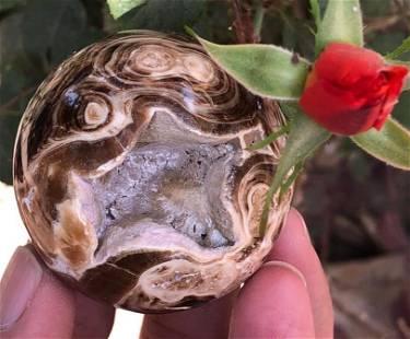 175 Grams Beautiful Chocolate Calcite Sphere