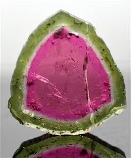 8.5 Carats Beautiful Watermelon Tourmaline Slice