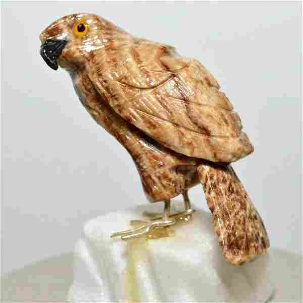 Stone natural aragonite onyx falcon mineral gem bird