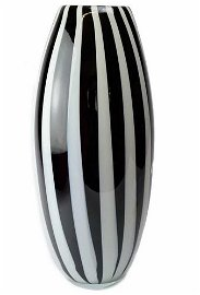 Murano glass vase with vertical rods