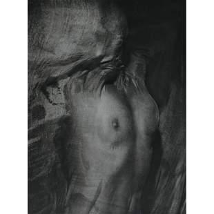 ERWIN BLUMENFELD - Nude behind Wet Veil, 1937