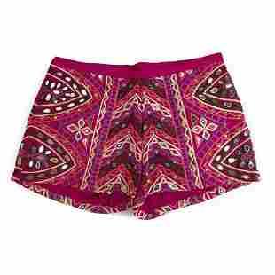 Manoush Ethnic Hippie Magenta Purple Embroidery Shorts