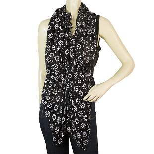 High Black & White Daisies Flowers Wrap Waterfall Front