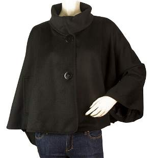 Stella McCartney Black Wool Cashmere Modern Cut Cape