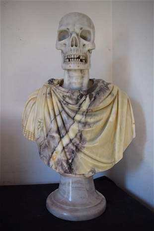 Bust, Portrait of Vanitas, marble, 19th century