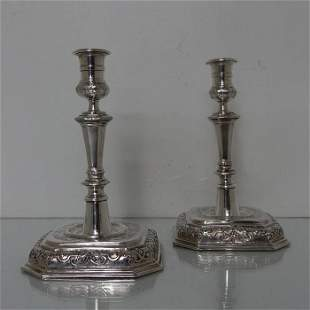 Pair of Early 18th Century Antique German Silver