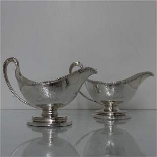 Pair Sterling Silver Antique 18th Century George III