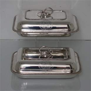 Sterling silver George III Pair Entrée Dishes London