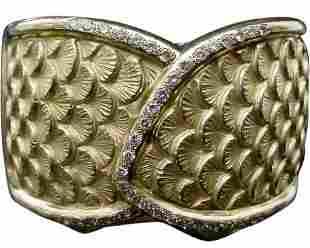 Antique 18Karat Diamond Bangle Bracelet