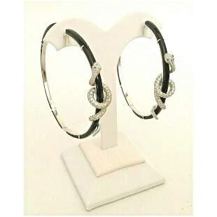 18 KARAT Diamond Black Onyx SNAKE Earrings
