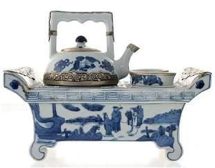 RARE Japanese Porcelain Tea for Two Set