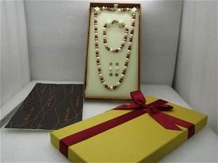 Sterling Danbury Mint Tahitian Pearl Jewelry Set,