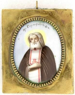 Finift. Saint Serafim Sarovsky.