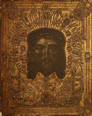 """ANTIQUE 19c RUSSIAN HAND PAINTED ICON OF"""" IMAGE NOT"""