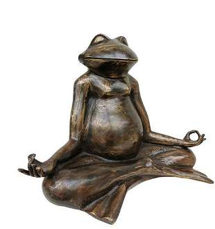Meditating frog - Yoga statue - Animal Yoga