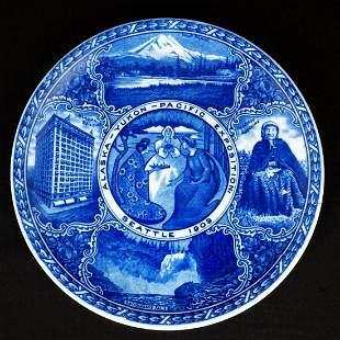 Alaska Yukon Pacific Exposition Souvenir Plate 1909