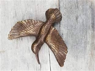 Bronze hummingbird - door knocker - door hanger