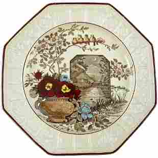 19th C Wedgwood Transferware Plate