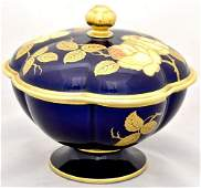 Porcelain candy bowl with lid