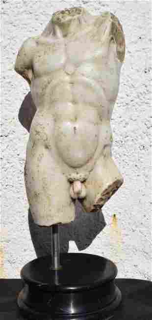 Italy Male torso in marble 19th century