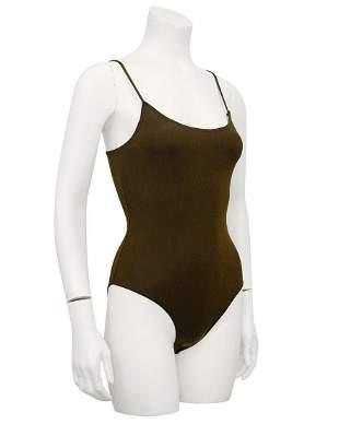 Krizia Brown Lurex Bodysuit