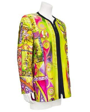 Versace Mutli Colour Baroque Jacket with Zipper