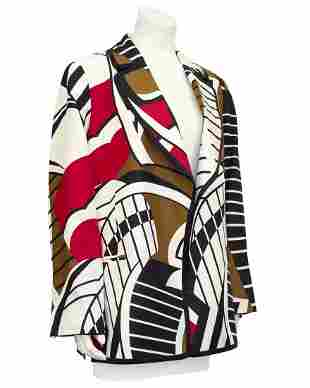 Gianfranco Ferre Multi Colour Graphic Blazer