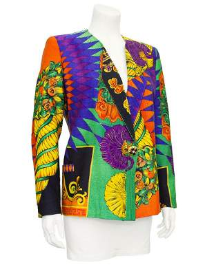 Versace Multi Colour Baroque Print Jacket