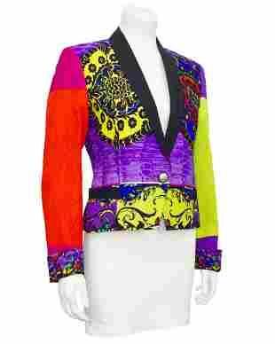 Versace Colour Block Baroque Tuxedo Jacket