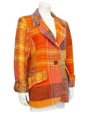 Christian Lacroix Orange Tweed Blazer