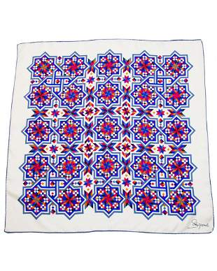 Schiaparelli Geometric Star Print Silk Scarf
