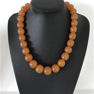 Amazing Unique Vintage Amber Necklace made from Barrel