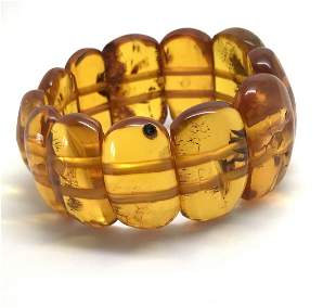 Amber Bracelet with many inclusions