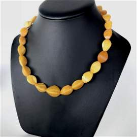 Antique Cut Amber Necklace
