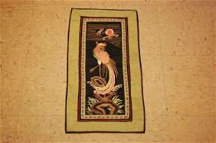 Pre 1900s ANTIQUE FINE SILK & BRASS METAL CHINESE