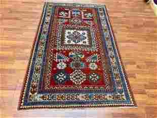 Antique Dated Kazak prayer rug-3427