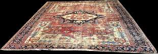A Stunning 10' x 12' 19th Century Worn Out /distressed