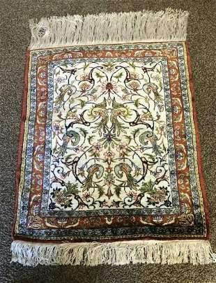 Hand Knotted Turkish Silk 2x3 ft