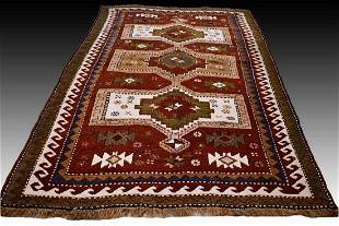 Semi antique Kazak rug - 6.2x4.3 - 1960s