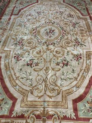 Hand Knotted Chinise 13.2x9.5 ft