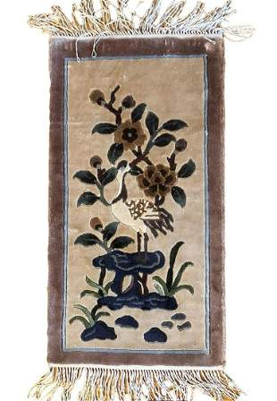 Hand Knotted Chinise Silk 2.6x1.1 ft