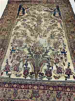 Antique Hand Knotted Persian Kermen 4x6 ft